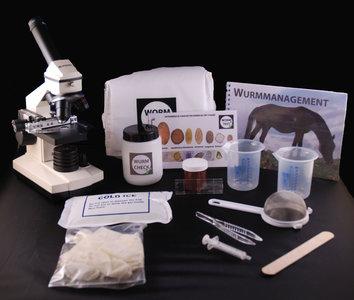 Wurmcheckset und Starter Mikroskop